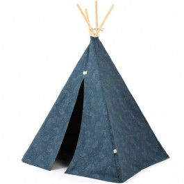 nobodinoz tipi wigwam phoenix - gold bubble night blue | ilovespeelgoed.nl
