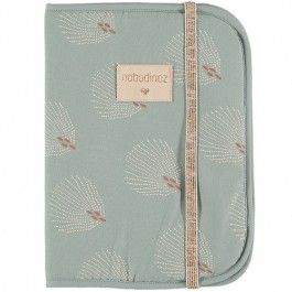 nobodinoz hoes notitieboek a5 - white gatsby-antique green | ilovespeelgoed.nl