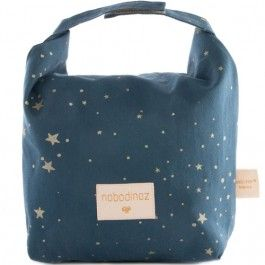 nobodinoz eco lunchtas - gold stella night blue | ilovespeelgoed.nl