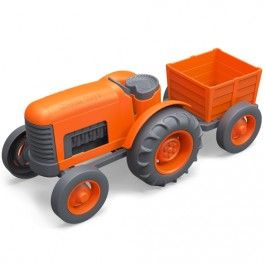 green toys tractor oranje - gerecycled GTTRT01042 | ilovespeelgoed.nl
