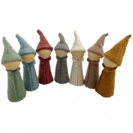 papoose toys kabouters earth - 10,5 cm - 7st | ilovespeelgoed.nl