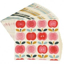 rex london servetten vintage apples | ilovespeelgoed.nl