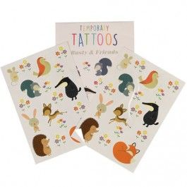 dotcomgiftshop tattoos dieren rusty and friends R-toy26621 | ilovespeelgoed.nl