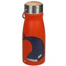 the zoo rvs thermosfles orka 300ml - rood | ilovespeelgoed.nl