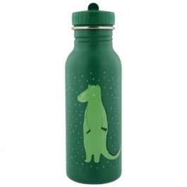 trixie rvs drinkfles mr. crocodile - 500ml | ilovespeelgoed.nl