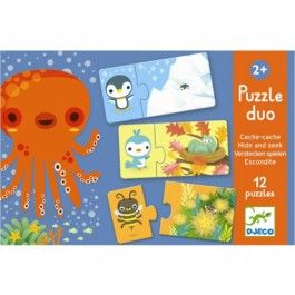 puzzel duo verstoppertje (12x2st) | djeco