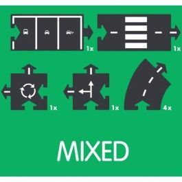 waytoplay extension set mixed 8-delig | ilovespeelgoed.nl