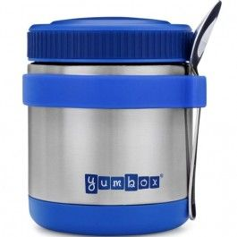 yumbox zuppa thermos container met lepel - blauw | ilovespeelgoed.nl