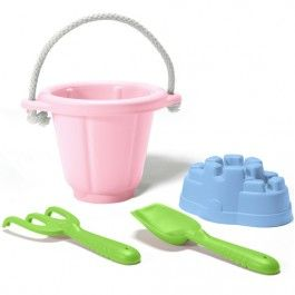 green toys zandkastelen set roze - gerecycled
