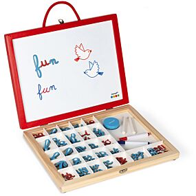janod magneetkoffer 4-in-1 letters leren