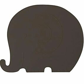 oyoy placemat olifant - donkerbruin | ilovespeelgoed.nl