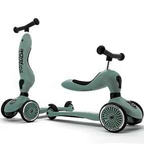 scoot and ride 2-in-1 loopfiets en step - highwaykick 1 - forest