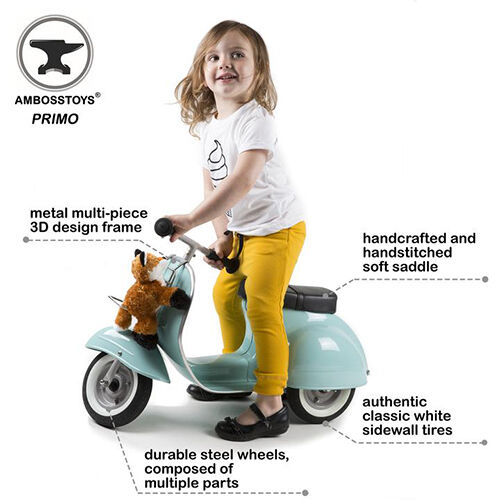 ambosstoys scooter loopfiets primo ride-on kids toy classic - mint