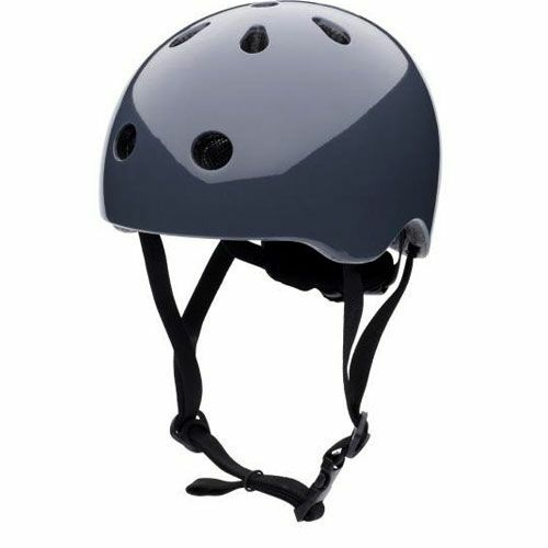 coconuts helmets kinderhelm graphite grey plain - m