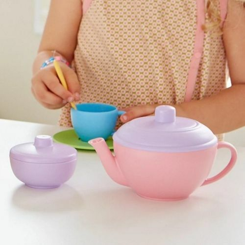 green toys theeservies blauw - 10-delig