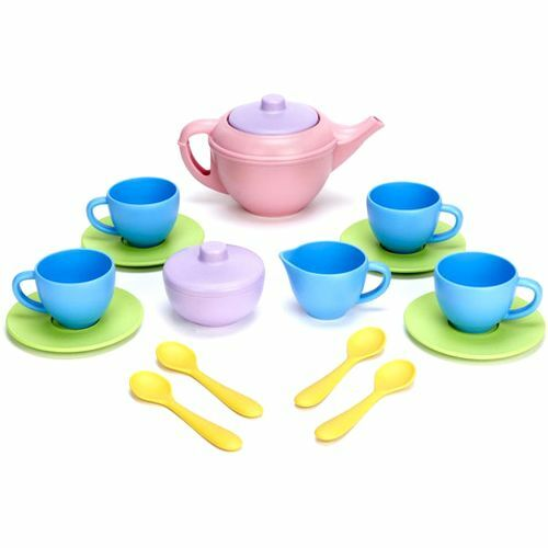green toys theeservies blauw - 17-delig